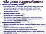 the great rapprochement