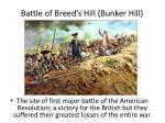 battle of breed s hill bunker hill