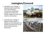 lexington concord
