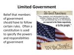 limited government
