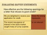 evaluating buffer statements1