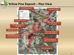 yellow pine deposit plan view
