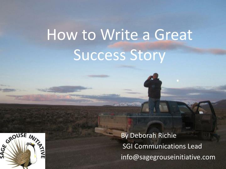 how to write a great success story n.