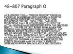 48 807 paragraph o