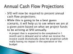 annual cash flow projections