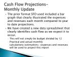 cash flow projections monthly update