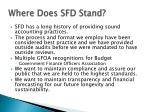 where does sfd stand