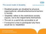the social model of disability