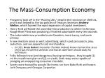 the mass consumption economy