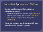 immodest apparel and children
