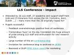 lls conference impact