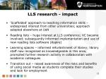 lls research impact