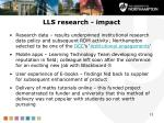 lls research impact1