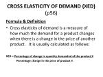 cross elasticity of demand xed p56