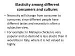 elasticity among different consumers and cultures
