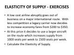 elasticity of supply exercises