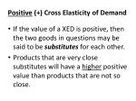positive cross elasticity of demand