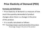 price elasticity of demand ped