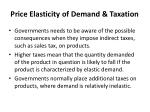 price elasticity of demand taxation
