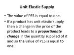 unit elastic supply