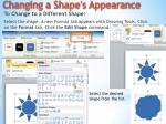 changing a shape s appearance