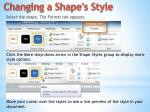 changing a shape s style