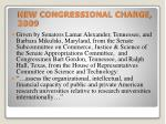 new congressional charge 2009