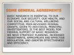 some general agreements