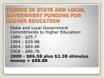 trends in state and local government funding for higher education