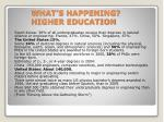 what s happening higher education
