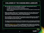 challenges of the changing media landscape1