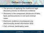define e discovery