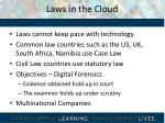laws in the cloud