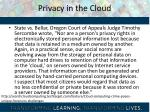 privacy in the cloud