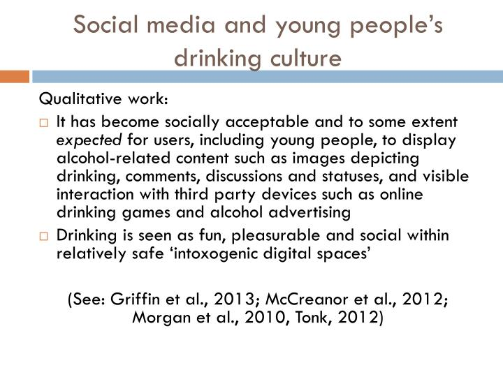 Social media and young people's drinking culture