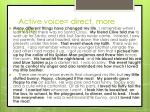 active voice direct more lively