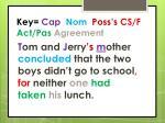 key cap nom poss s cs f act pas agreement