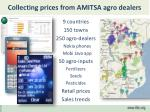 collecting prices from amitsa agro dealers