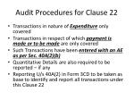 audit procedures for clause 22