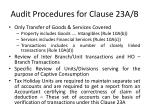 audit procedures for clause 23a b