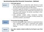 benchmarking specified domestic transactions methods1