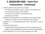 s 80a 6 80 ia 8 intra firm transactions continued
