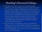 harding s personal failings1