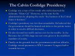 the calvin coolidge presidency3