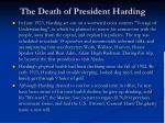 the death of president harding