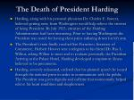 the death of president harding1