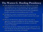 the warren g harding presidency3