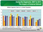 sizing the segments 2007 to 2011 the impact of external stimuli