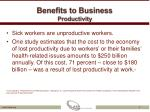 benefits to business productivity