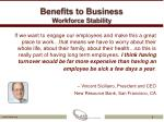 benefits to business workforce stability1